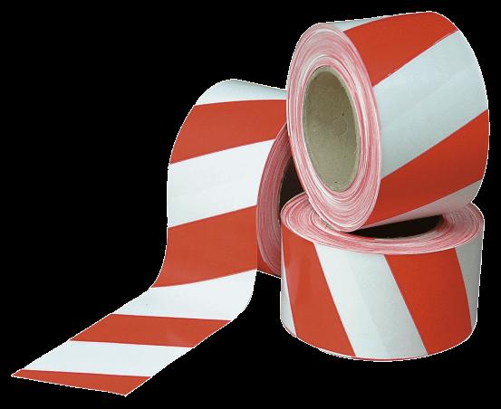 лента оградительная красно белая